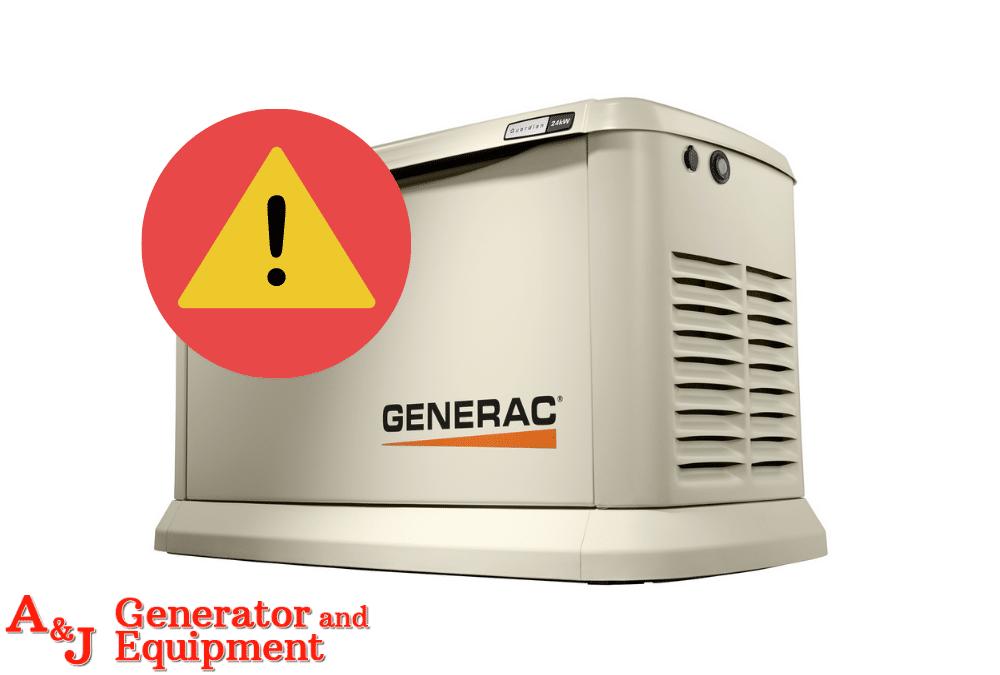 Error Code on Generac Generator
