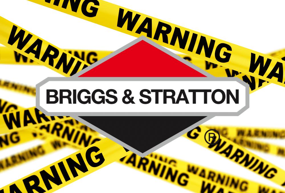 Warning Signs Briggs & Stratton